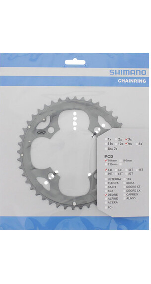 Shimano Deore FC-M590 Kettenblatt 3x9-fach Grau